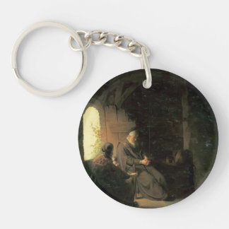 Anna and the Blind Tobit by Rembrandt Acrylic Key Chain