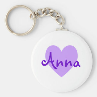 Anna in Purple Key Ring