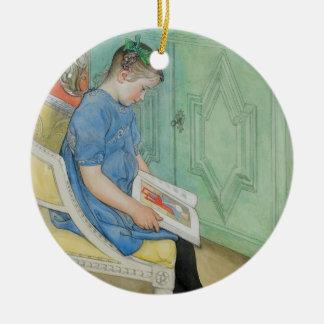 Anna Johanna Reading a Book Christmas Ornament