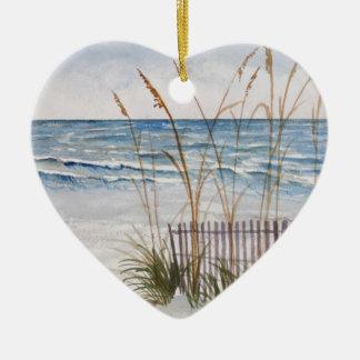Anna Maria Island Beach Ceramic Heart Decoration