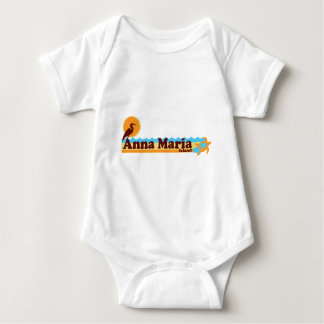 Anna Maria Island - Beach Design. Baby Bodysuit