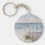 Anna Maria Island Beach Basic Round Button Key Ring