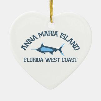 Anna Maria Island - Fishing Design. Christmas Ornament