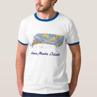 Anna Maria Island Florida Nautical chart shirt