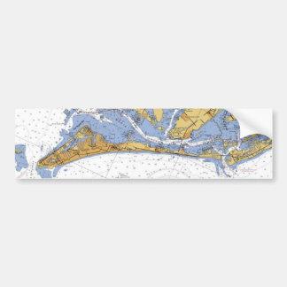 Anna Maria Island Florida Nautical Chart sticker Car Bumper Sticker
