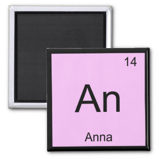 Anna Name Chemistry Element Periodic Table Magnet