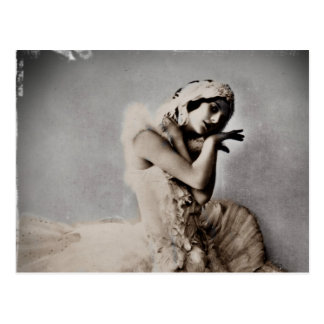 Anna Pavlova Posed en Pointe Postcard