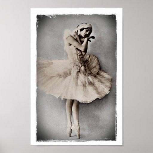Anna Pavlova Posed en Pointe Posters