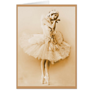 Anna Pavlova_The Dying Swan Greeting Card