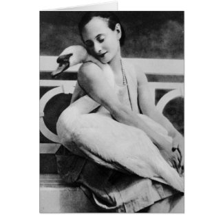 Anna Pavlova with her pet swan Jack, c.1905 Card