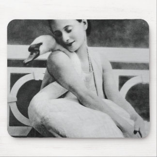 Anna Pavlova with her pet swan Jack, c.1905 Mouse Mat