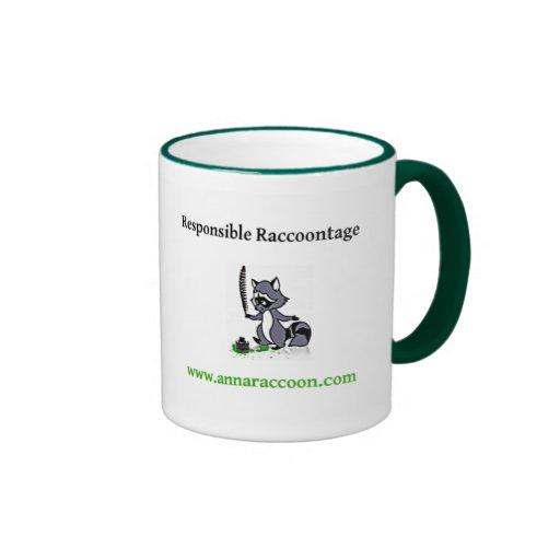 Anna Raccoon Responsible Raccoontage mug