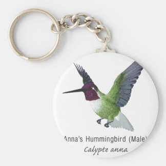 Anna s Hummingbird Male with Name Key Chains