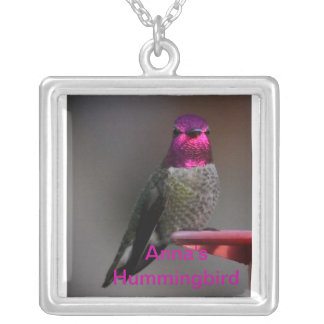 Anna s Hummingbird Personalized Necklace