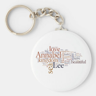 Annabel Lee Basic Round Button Key Ring