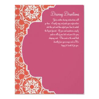 "AnnaLiese Damask - Tangerine n Watermelon Invite 4.25"" X 5.5"" Invitation Card"