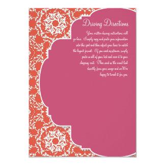 "AnnaLiese Damask - Tangerine n Watermelon Invite 4.5"" X 6.25"" Invitation Card"