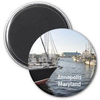 Annapolis, Maryland 6 Cm Round Magnet