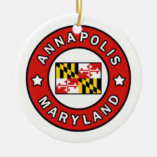 Annapolis Maryland Christmas Ornament