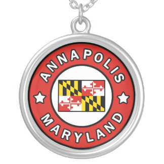 Annapolis Maryland Silver Plated Necklace