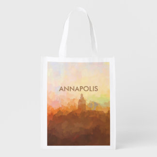 Annapolis, Maryland Skyline IN CLOUDS Reusable Grocery Bag