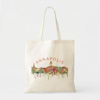 Annapolis Maryland Skyline SG - Faded Glory Tote Bag