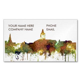 Annapolis, Maryland Skyline SG - Safari Buff Magnetic Business Cards
