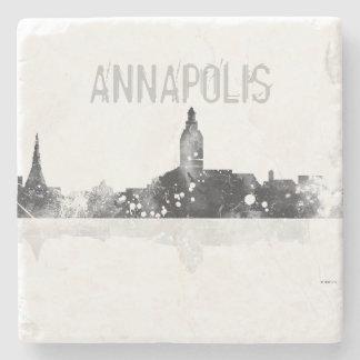 ANNAPOLIS MARYLAND SKYLINE - Stone drinks coaster