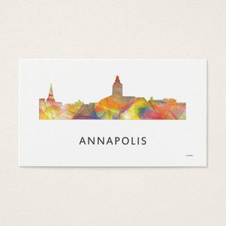 ANNAPOLIS MARYLAND SKYLINE WB1- BUSINESS CARD