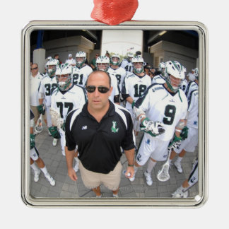 ANNAPOLIS,MD - AUGUST 22:  Head coach Jim Mule Silver-Colored Square Decoration