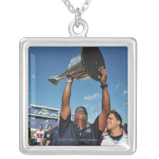 ANNAPOLIS, MD - AUGUST 28:  Head coach Billy Day Square Pendant Necklace