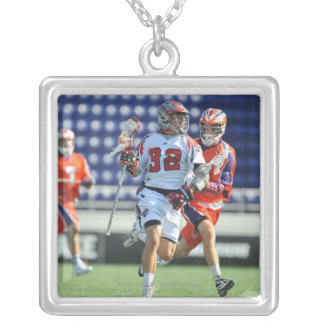 ANNAPOLIS, MD - AUGUST 28:  Jon Hayes #32 2 Square Pendant Necklace