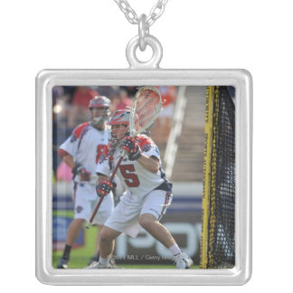 ANNAPOLIS, MD - AUGUST 28:  Jordan Burke #5 3 Silver Plated Necklace