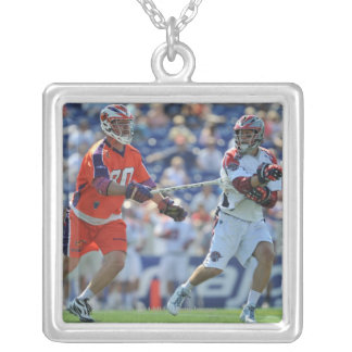 ANNAPOLIS, MD - AUGUST 28:  Mike Stone #41 2 Silver Plated Necklace