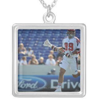 ANNAPOLIS, MD - AUGUST 28:  Paul Rabil #99 4 Silver Plated Necklace