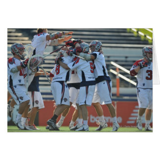 ANNAPOLIS, MD - AUGUST 28:  The Boston Cannons 3 Greeting Card