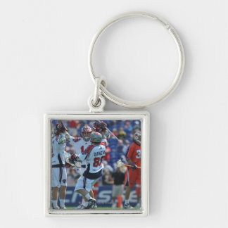 ANNAPOLIS, MD - AUGUST 28:  The Boston Cannons 4 Silver-Colored Square Key Ring