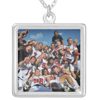 ANNAPOLIS, MD - AUGUST 28:  The Boston Cannons 6 Square Pendant Necklace