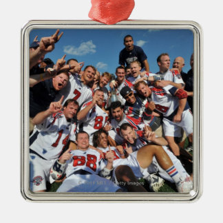 ANNAPOLIS, MD - AUGUST 28:  The Boston Cannons 6 Silver-Colored Square Decoration