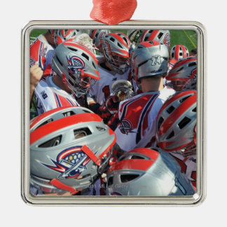 ANNAPOLIS, MD - AUGUST 28:  The Boston Cannons Silver-Colored Square Decoration