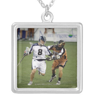 ANNAPOLIS, MD - JULY 02: Brian Carroll #8 Silver Plated Necklace