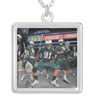ANNAPOLIS, MD - JULY 23:  Brian Spallina #91 Silver Plated Necklace