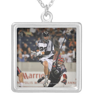 ANNAPOLIS, MD - JUNE 25:  Dan Hardy #22 4 Silver Plated Necklace