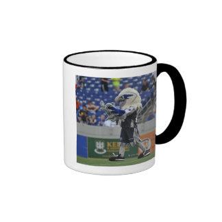 ANNAPOLIS, MD - JUNE 25:  Hawk-Eye cheers at the Ringer Mug