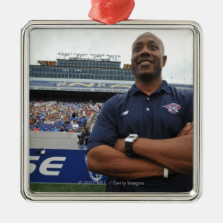 ANNAPOLIS, MD - JUNE 25:  Head coach Billy Day Silver-Colored Square Decoration