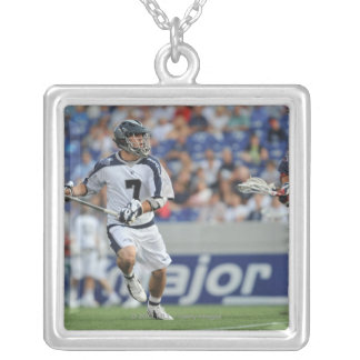 ANNAPOLIS, MD - JUNE 25:  Steve DeNapoli #7 6 Silver Plated Necklace