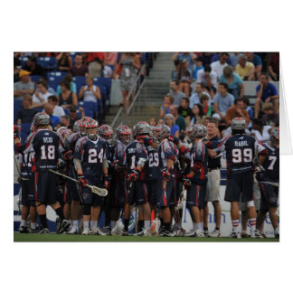 ANNAPOLIS, MD - JUNE 25:  The Boston Cannons Greeting Card