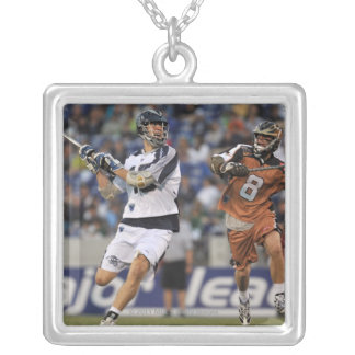 ANNAPOLIS, MD - MAY 14:  Ben Hunt #18 3 Silver Plated Necklace