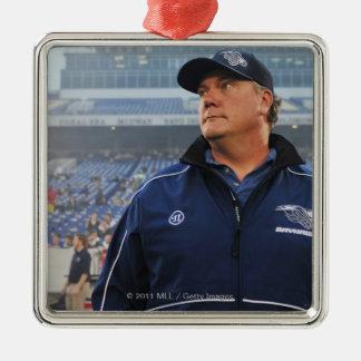 ANNAPOLIS, MD - MAY 14:  Head coach Brendan Silver-Colored Square Decoration