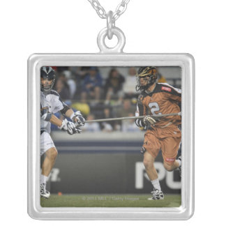 ANNAPOLIS, MD - MAY 14:  Ned Crotty #2 14 Silver Plated Necklace